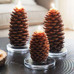 Pineconecandles