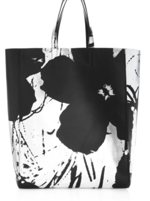 70a495b74 CALVIN KLEIN 205W39NYC Andy Warhol Soft Floral Leather Tote - Opullent